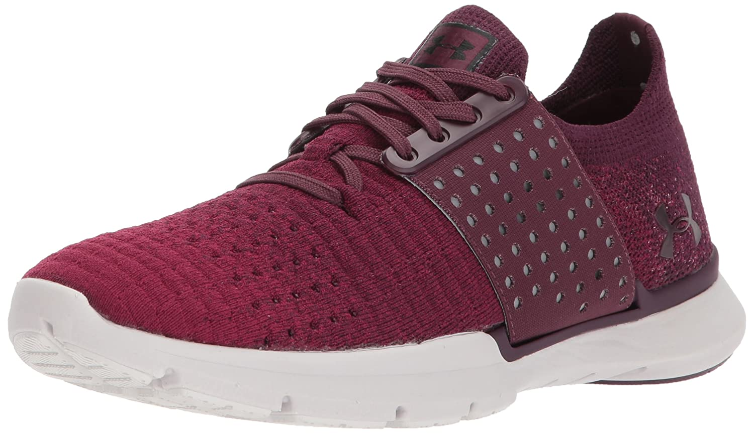 Under Armour Women's Speedform Slingwrap Fade Running Shoe B01N6F6OC0 6 M US|Raisin Red (501)/Black Currant