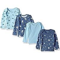Hanes Ultimate Baby Flexy - Juego de 4 Camisetas de Manga Larga para niña