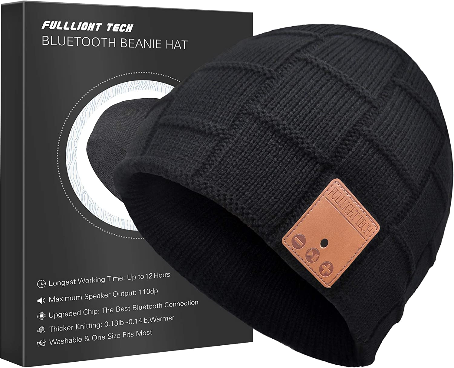 Upgraded Bluetooth Beanie Hat with Headphones Unique Tech Gifts