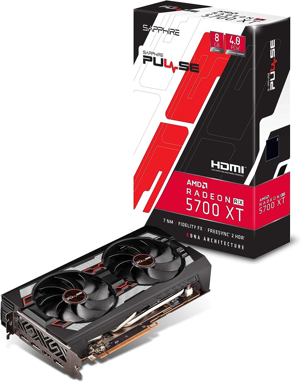 Sapphire 11293-01-20G Radeon Pulse RX 5700 Xt 8GB GDDR6 HDMI/ Triple DP OC w/ Backplate (UEFI) PCIe 4.0 Graphics Card