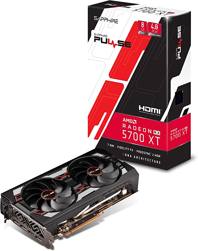 Sapphire 112930120G Radeon PULSE RX 5700 Xt 8GB GDDR6 HDMI TRIPLE DP OC w Backplate UEFI PCIe 40 Graphics Card at Kapruka Online for specialGifts