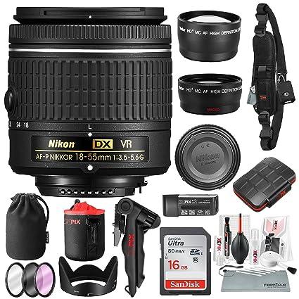 Nikon AF-P DX NIKKOR 18-55 mm f/3.5-5.6G VR Lente para cámara ...