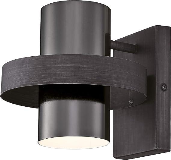 LED Lampada Muro Esterno Anello circa LAMPADE mondo grigio scuro Moderno Muro Esterno Luce LED