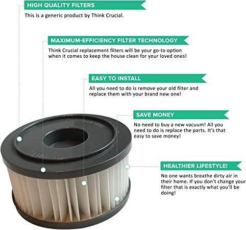 2 de repuesto para DIRT DEVIL F15 filtro HEPA estilo, Compatible ...
