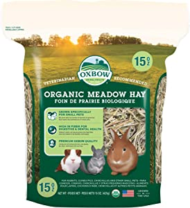 Oxbow Animal Health Organic Meadow Hay - All Natural Hay for Rabbits, Guinea Pigs, Chinchillas, Hamsters & Gerbils