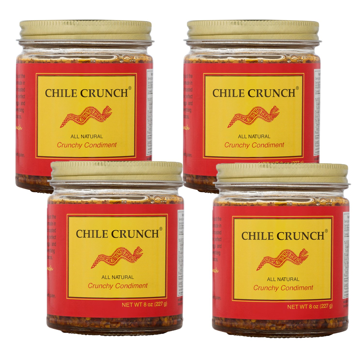Chile Crunch - An All Natural Crunchy Condiment (Original) - 4 Pack by Chile Crunch