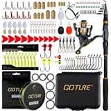 Goture Telescopic Spinning Fishing Rod and Reel Combos Tackle Kit Freshwater Saltwater