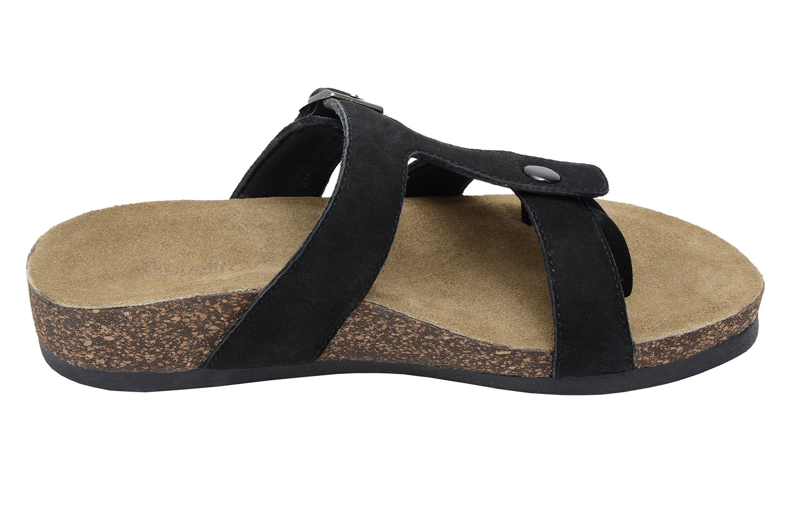 Wellrox Women's Santa Fee-Sedona Black Nubuck Casual Sandal 6