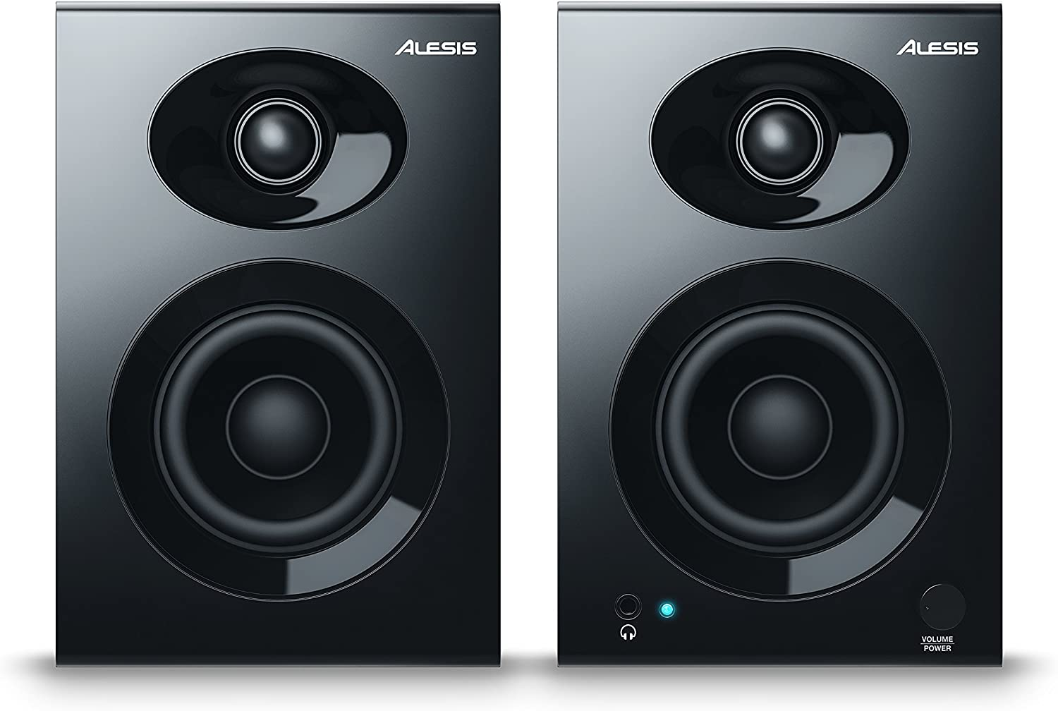 Alesis Elevate 3 MKII | Powered Desktop Studio Speakers for Home Studios/Video-Editing/Gaming and Mobile Devices