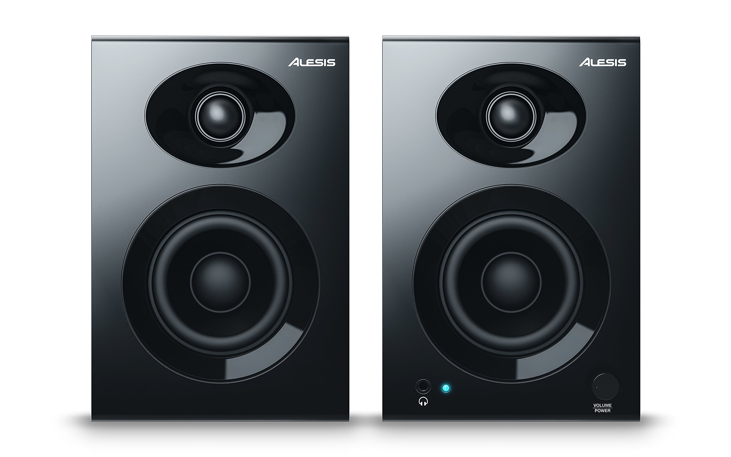 Alesis ELEVATE 3 MKII | Powered Desktop Studio Speakers for Home Studios/Video-Editing/Gaming and Mobile Devices by Alesis