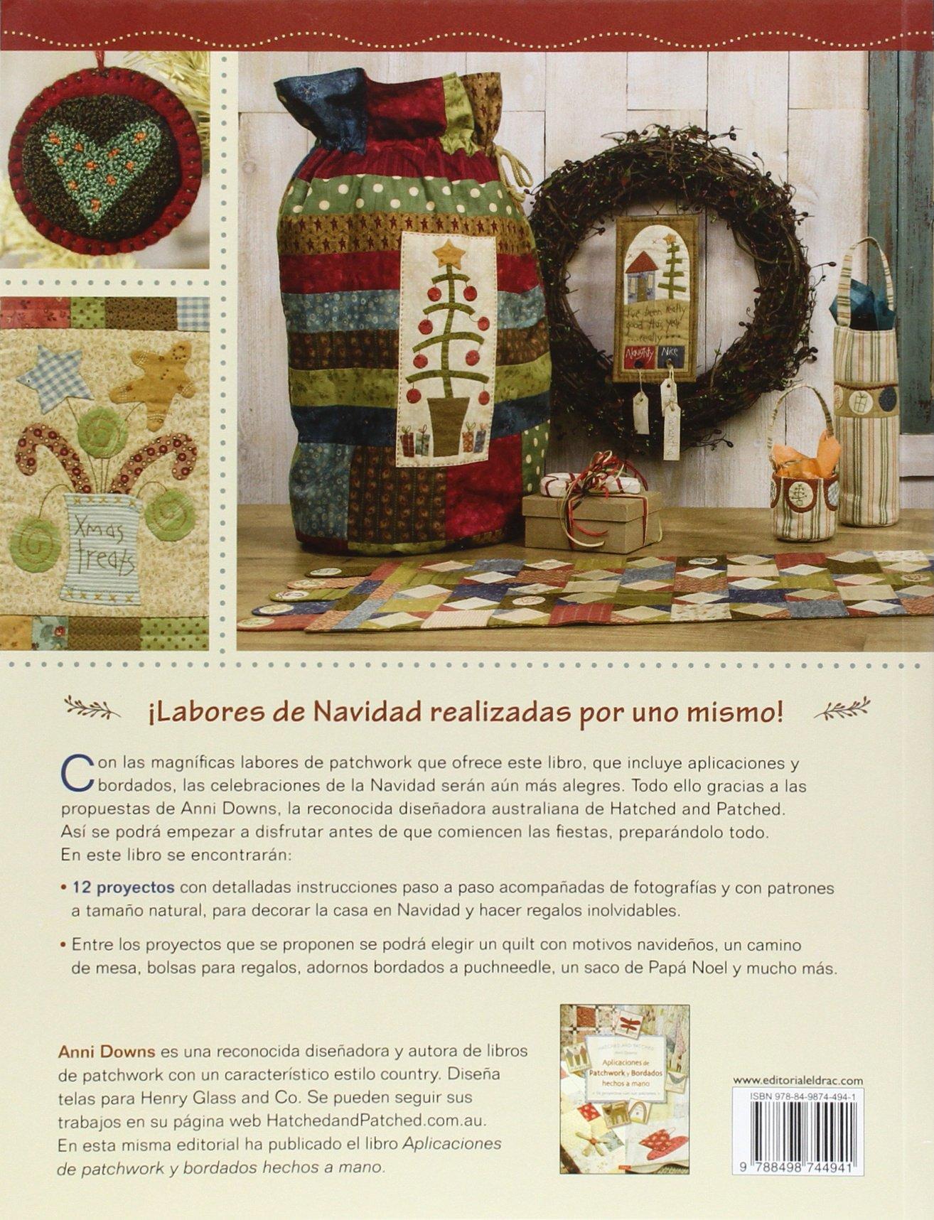 Aplicaciones de patchwork y bordados para navidad : 12 ...