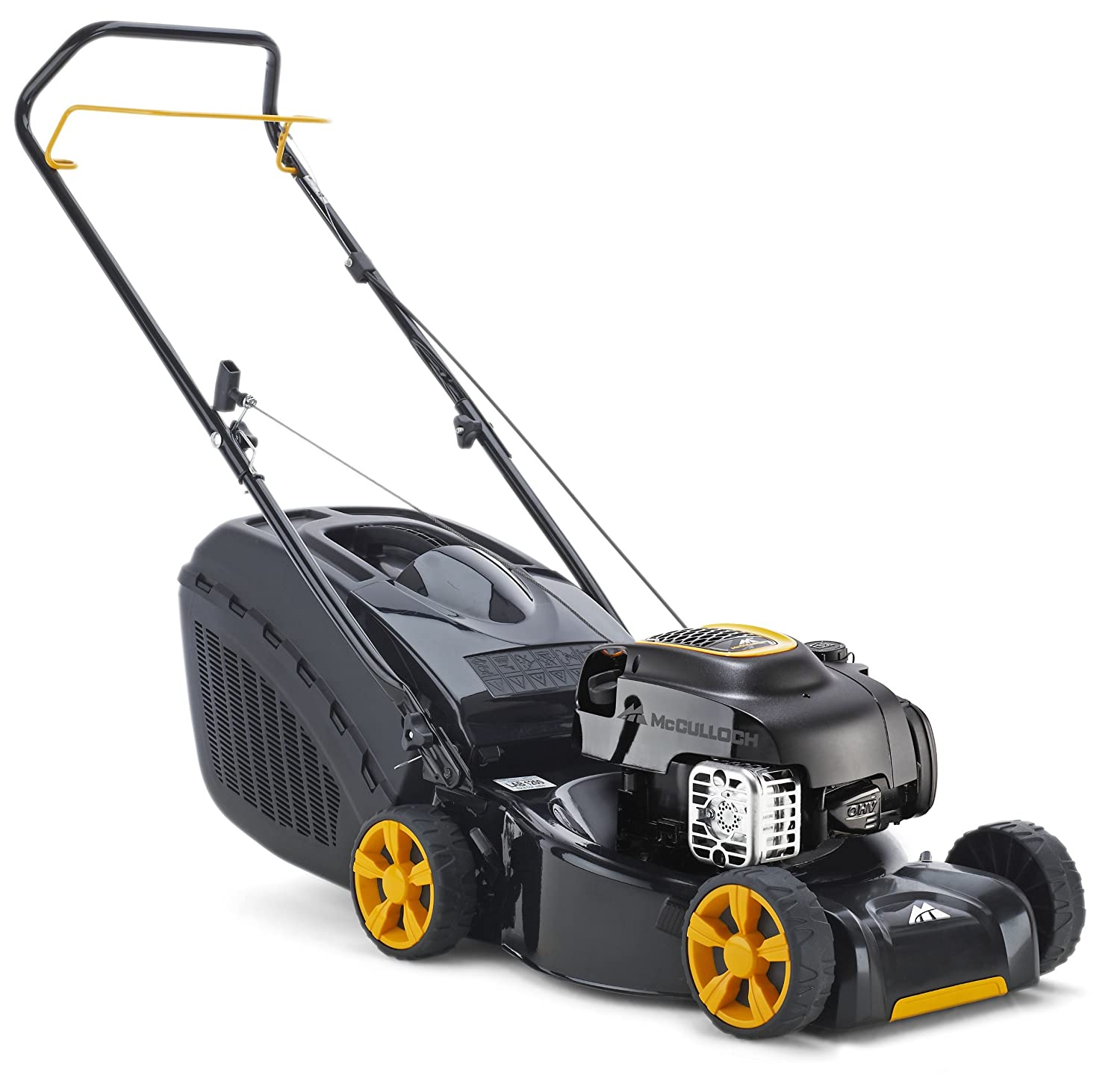 McCulloch M40-125 Petrol Push Collect Lawn Mower, 1600 W, Black, 125 cc, 40 cm Cutting Width