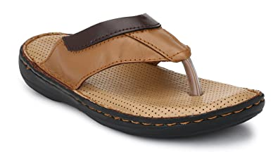 8c6d1b795bc2e5 Andrew Scott Men s Leather Thong Slippers  Buy Online at Low Prices ...