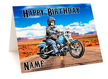 Harley motorbike personalised birthday card add any name and age harley motorbike personalised birthday card add any name and age bookmarktalkfo Image collections