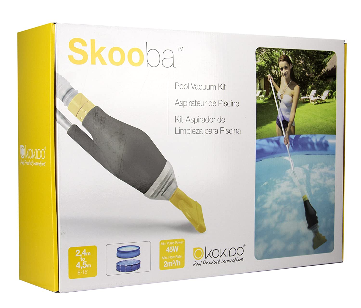Amazon.com : Kokido Skooba Vac Above Ground Swimming Pool Vacuum Cleaner for Intex Pools : Swimming Pool Handheld Vacuums : Garden & Outdoor