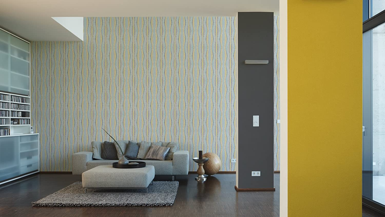 Cr/éation Vliestapete Pop Colors Tapete Unitapete 10,05 m x 0,53 m lila Made in Germany 346292 3462-92 A.S