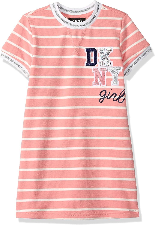 NEW DKNY Girl/'s Short Sleeve T-Shirt Dress