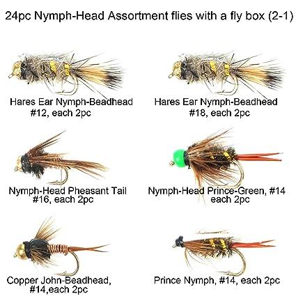 10. Prince nymph 12 nymphs # 8 bead head