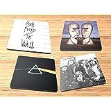 Pink Floyd Neoprene Coaster Set of 4 Rock and Roll Album Reproduction on Neoprene Coaster Set of 4