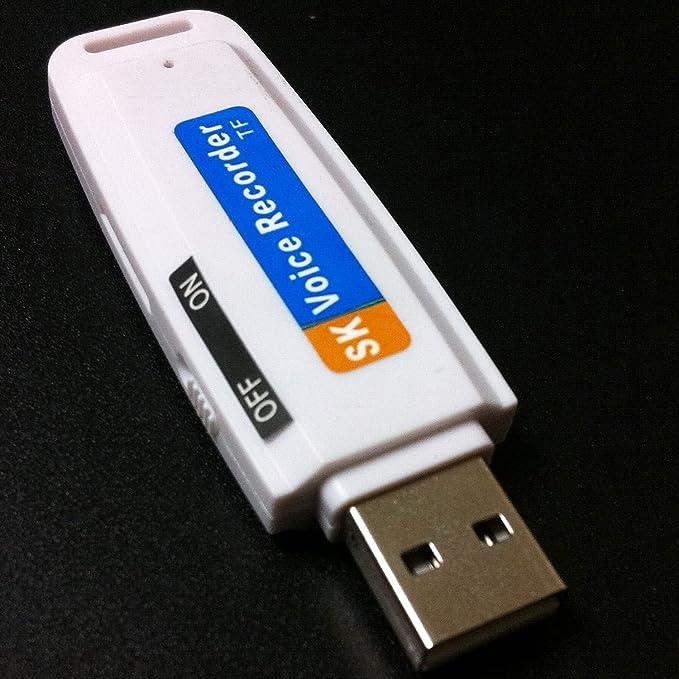 BNFUK Pluma de grabadora de Voz de Audio Digital en Forma de U-Disco USB Unidad de Flash Ranura para Tarjetas TF Espia
