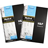 H&P notebook (2 pack) - Medical History and Physical notebook, 100 medical templates with perforations