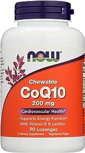 Now Foods, Coq10 Lozenges Chewable, 90 Count