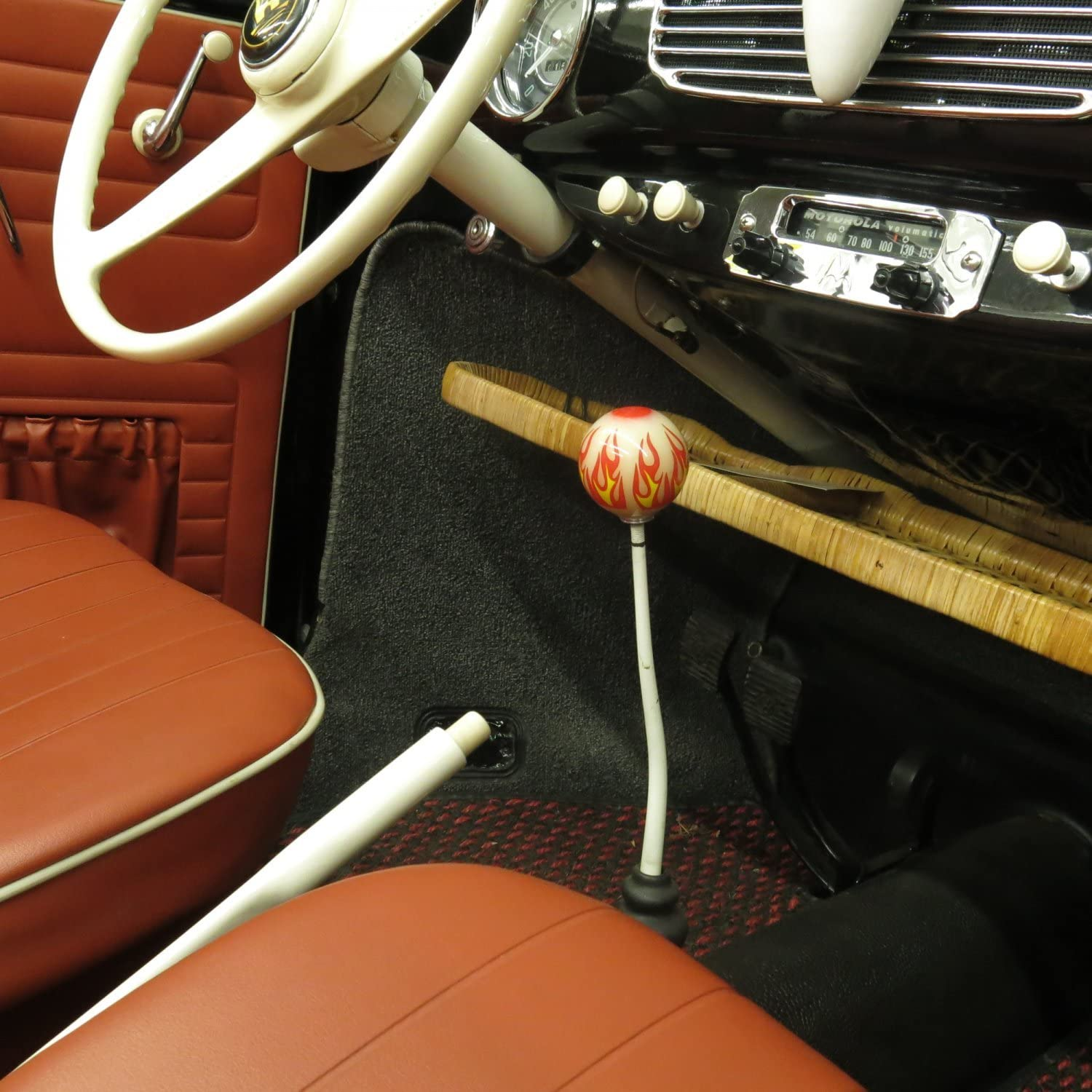 American Shifter 143084 Ivory Metal Flake Shift Knob with 5//16-18 Insert 8 Ball