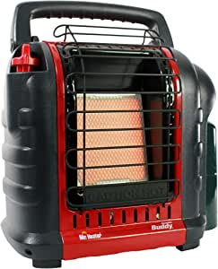 Mr. Heater F232000 MH9BX Buddy 4,000-9,000-BTU Indoor-Safe Portable Propane Radiant Heater, Red-Black