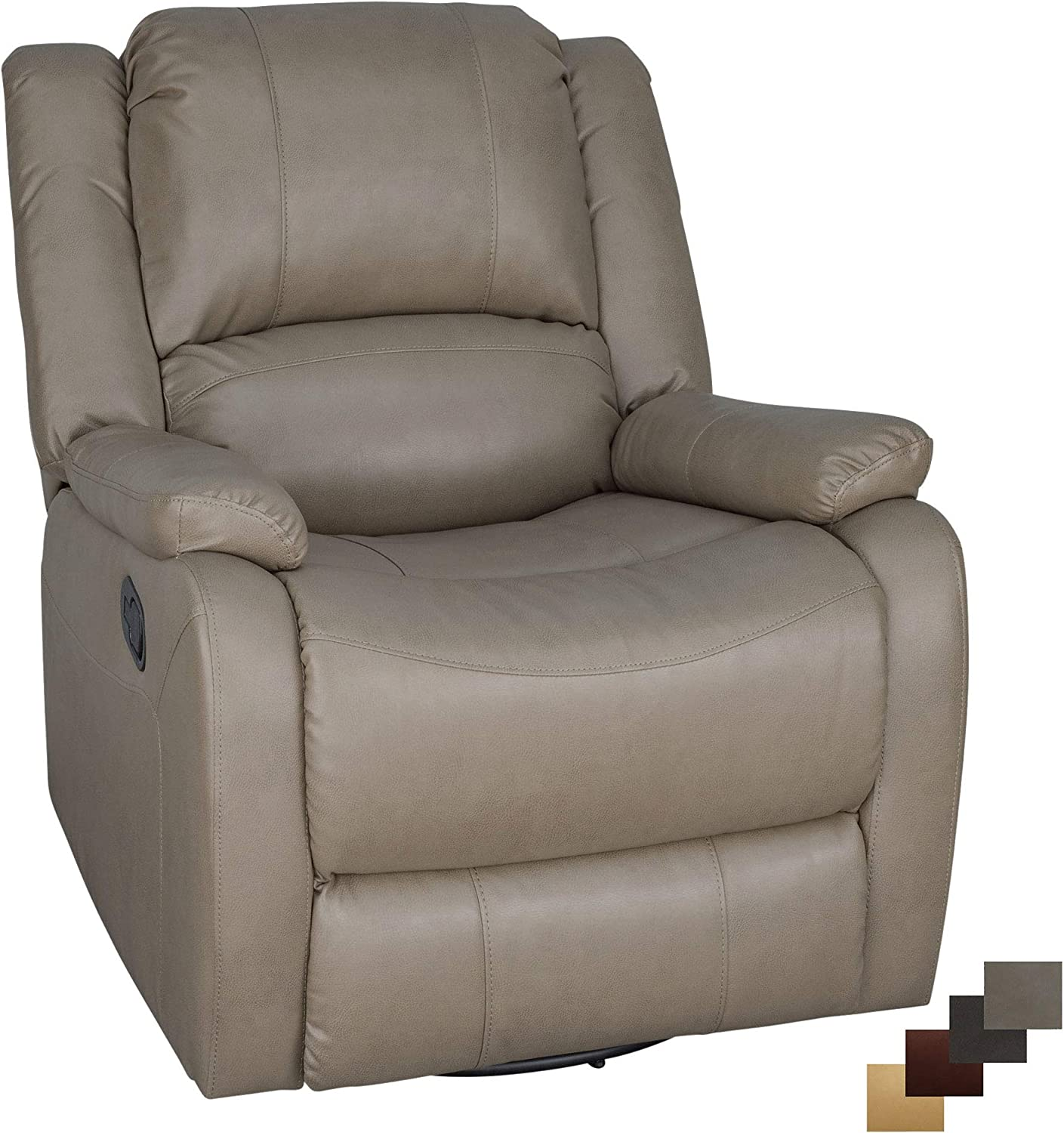 "RecPro Charles Collection | 30"" Swivel Glider RV Recliner 
