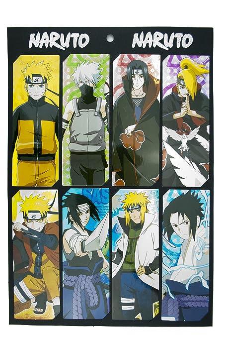 Naruto Anime - Juego de 8 marcapáginas: Amazon.es: Oficina y ...