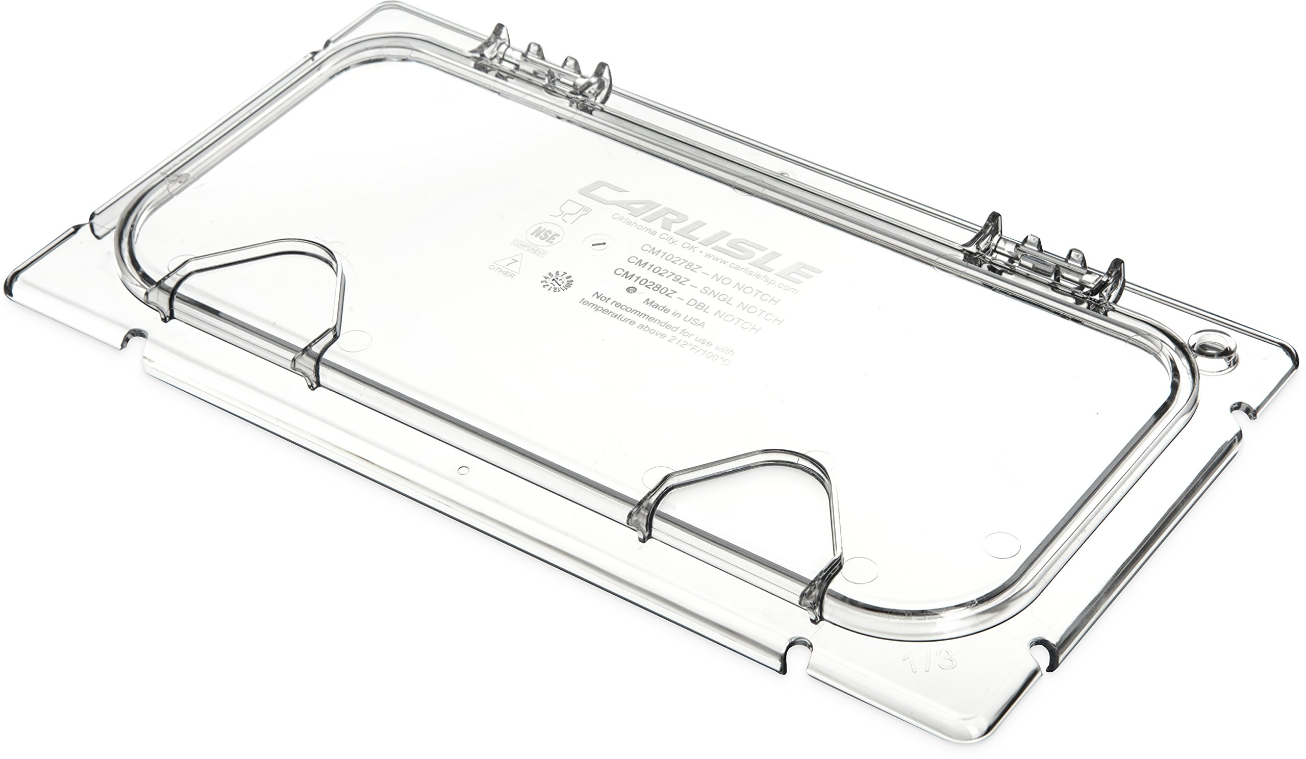 Carlisle CM10279Z07 Coldmaster EZ Access Lid with Notch, 1/3 Size, Clear (Pack of 2) by Carlisle