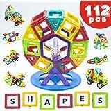 Blocs de Construction Magnétiques de 112 Pièces - de LIVEWELL. Jeux Éducatifs pour Filles & Garçons, Petits & Grands. Jeu Créatif Utilisant des Aimants & des