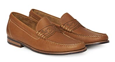 Robert Graham Mens Kevin Penny Loafer Brown 8