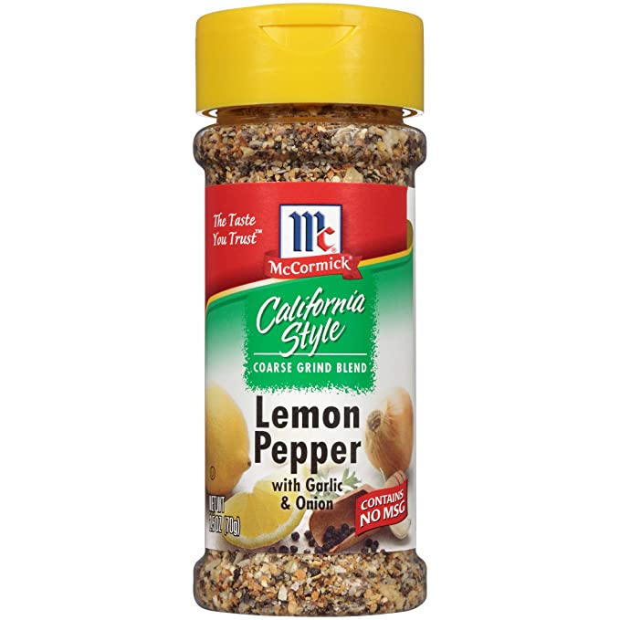 Amazon.com : McCormick California Style, Lemon Pepper with Garlic and Onion, 2.5 oz : Ground Peppers : Grocery & Gourmet Food