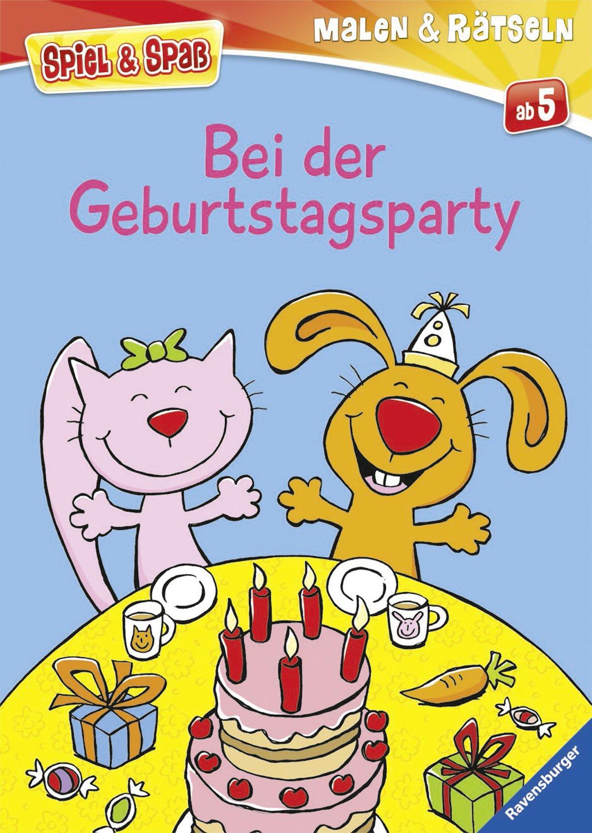 Bei der Geburtstagsparty (Spiel & Spaß - Malen & Rätseln)