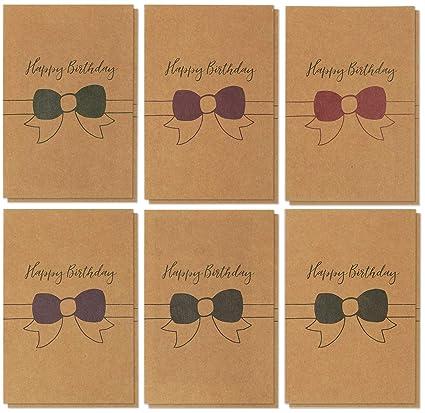 Amazon Birthday Cards Box Set 36 Pack Kraft Happy Birthday