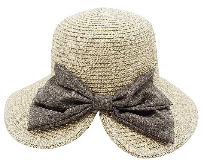 116348b54f4 Straw Sun Hat Beach Sun Visor Wide Brim Floppy Hat Summer Cap