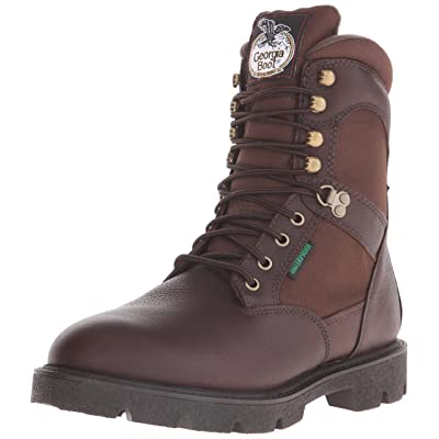 """Georgia Men's Homeland 8"""" Insulated-M Work Boot, Brown, 8.5 W US 