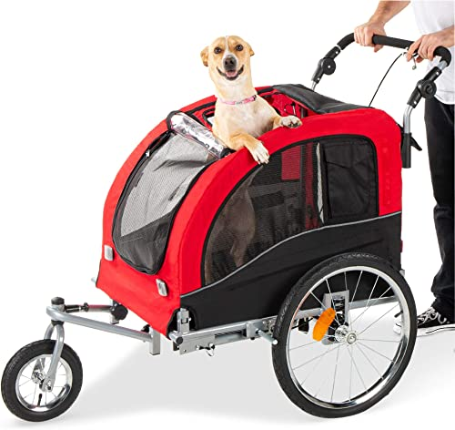 Best-Choice-Products-2-in-1-Pet-Stroller-and-Trailer