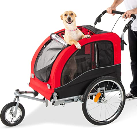 Best Choice Products 2-in-1 Pet Stroller and Trailer - Premium-quality Trailer