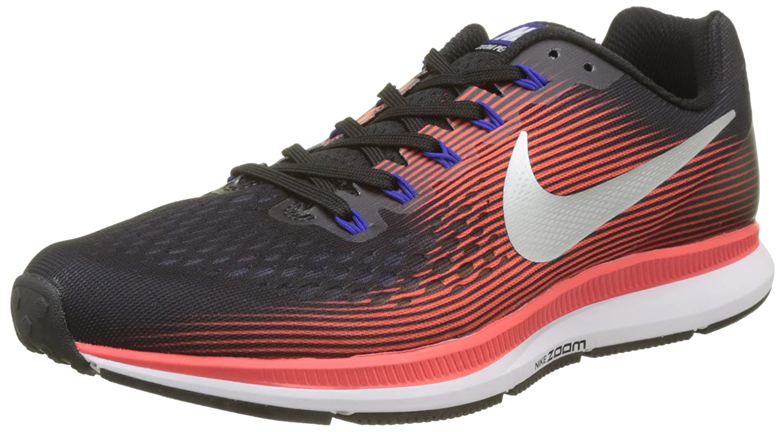 NIKE Men's Air Zoom Pegasus 34 Running Shoe B06X18RT5H 11 D(M) US|Black/Metallic Silver/Bright Crimson