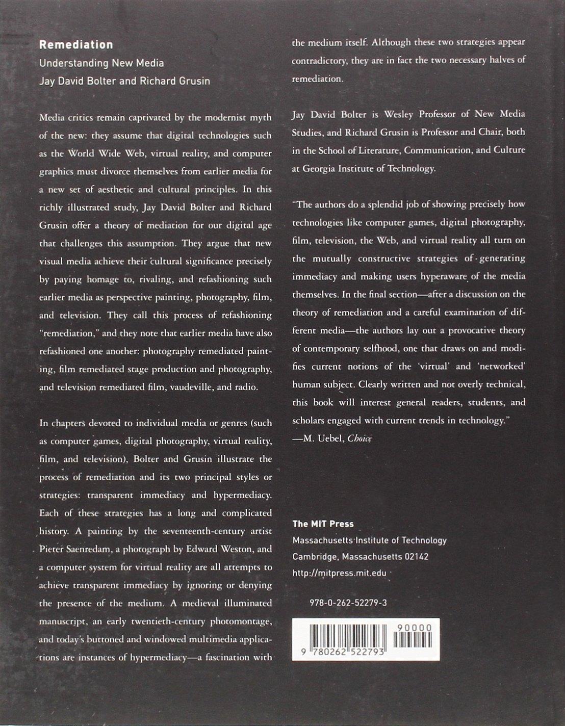 Bolter Grusin Remediation Ebook