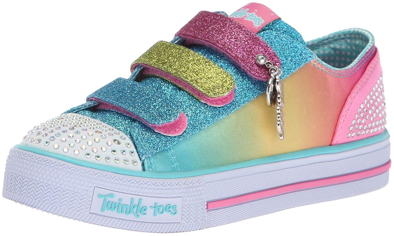 Skechers Kids Girls' Shuffles-Stylin' Smiles Sneaker,Neon 10904L