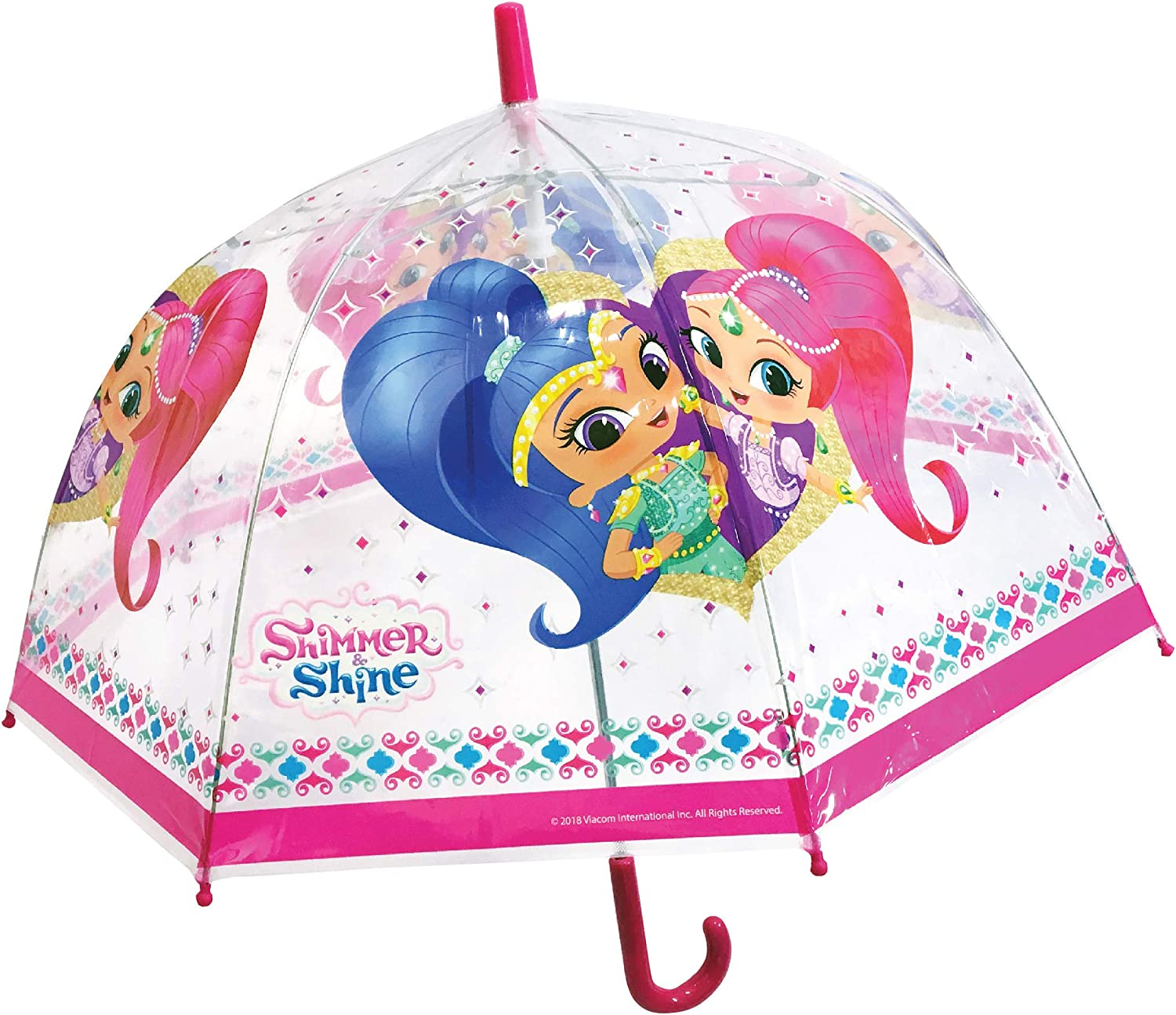 Chanos Chanos Shimmer & Shine Manual Dome Shape PoE Transparent Folding Umbrella, 48 cm, Pink Paraguas Plegable, Rosa (Pink): Amazon.es: Equipaje