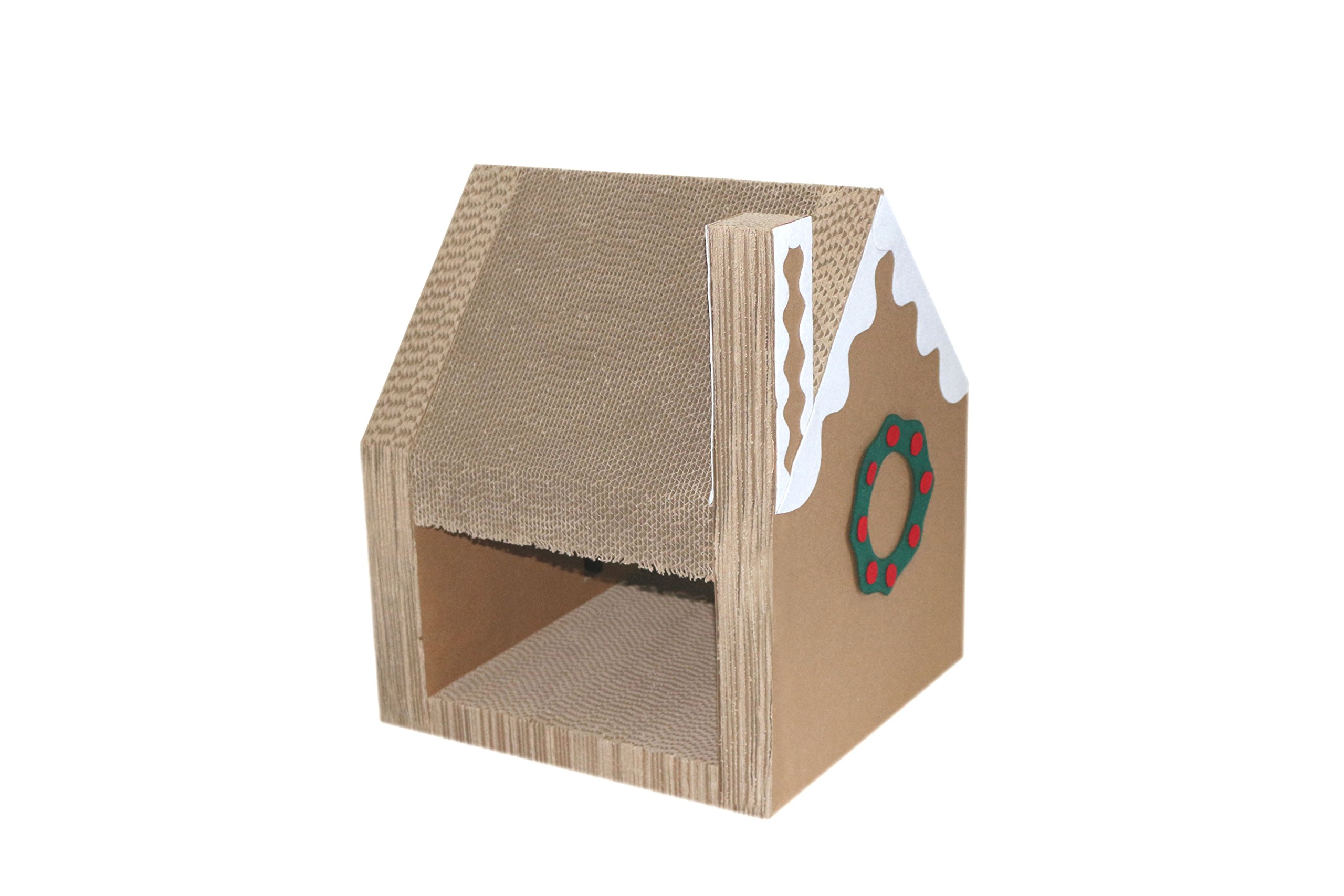 purrrfect life Christmas Cathouse and Cat Scratcher Lounger