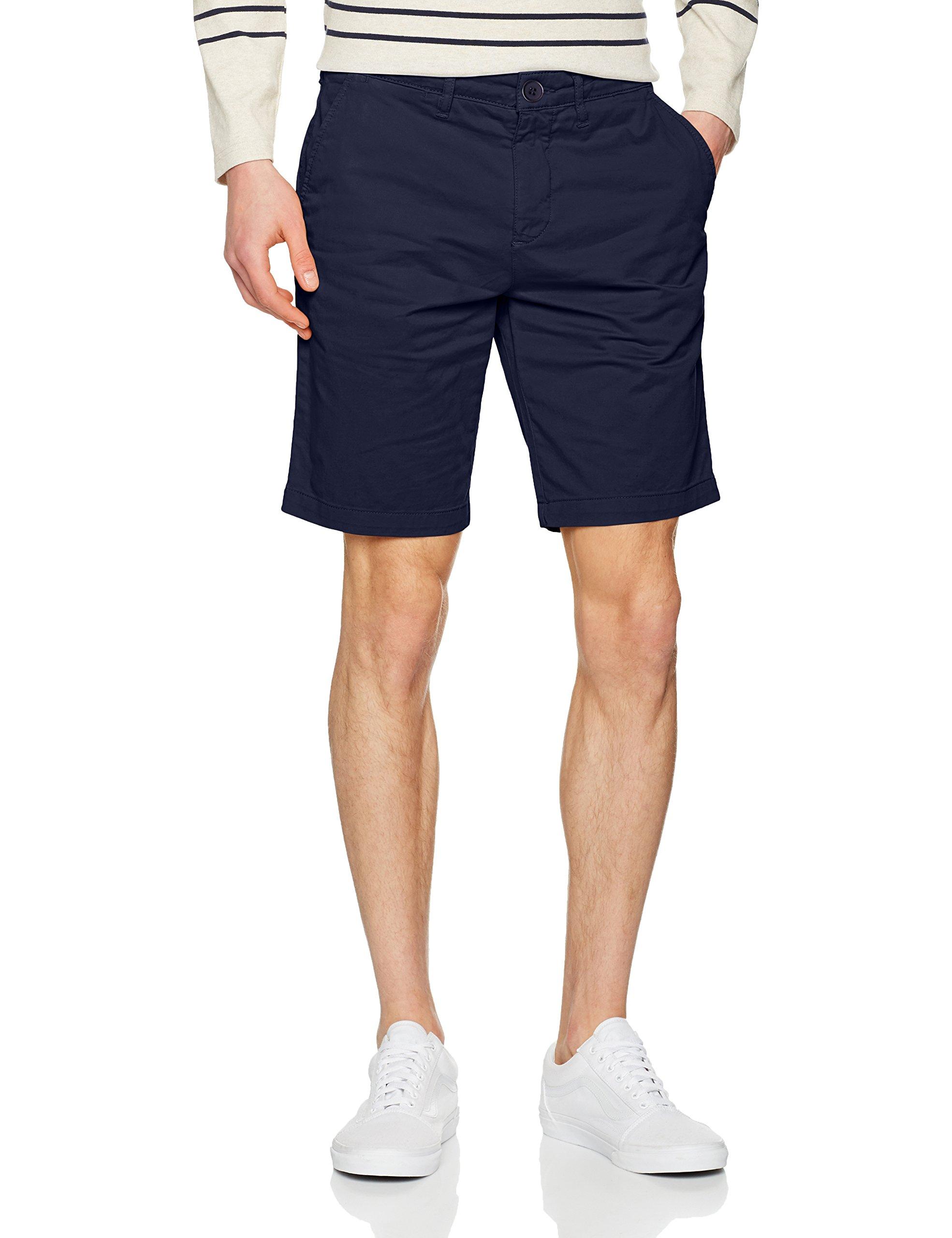 Lyle & Scott Men's Garment Dye Logo Chino Shorts, Blue, 36W
