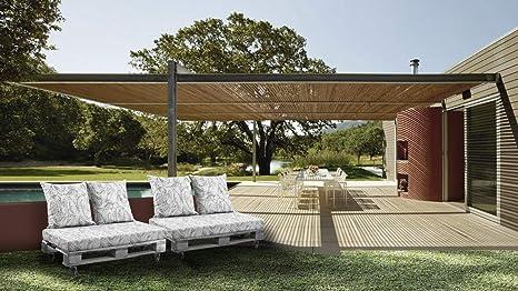 EXTROITALY Belem Onda Beige Set Cojines 120 x 60 + respaldos 60 x 60 pz.02 para Exterior/Interior decoración palé de jardín sofá con palé Cojines Interior Poliuretano Tejido Lavable desenfundable: Amazon.es: Jardín