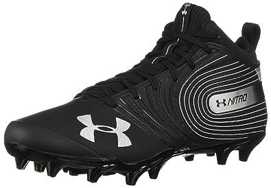 premium selection dd3a6 c6046 Under Armour Men s Nitro Mid MC Football Shoe, Black (001) White,