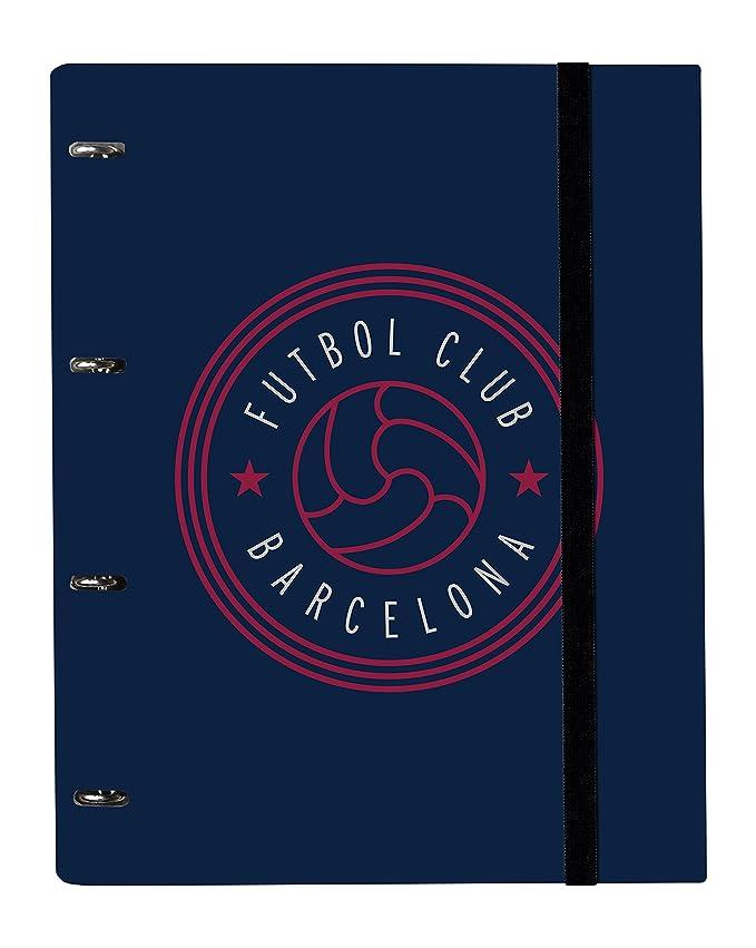 Grupo Erik Editores CARP1639 - Carpeblock con 4 anillas FC Barcelona, 32 x 27.5 cm: Amazon.es: Oficina y papelería