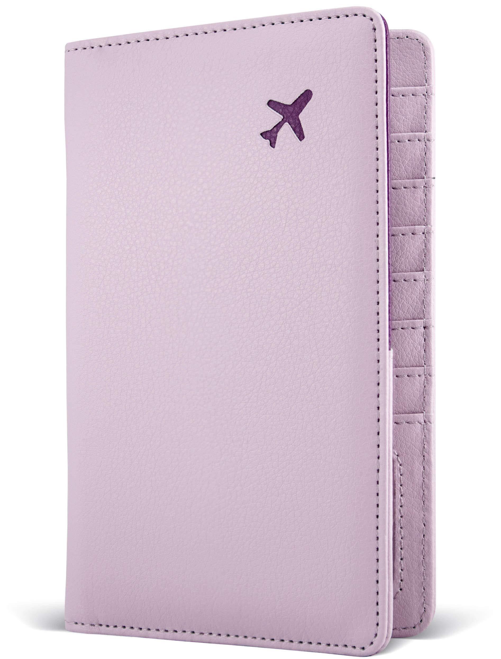 Passport Holder by POCKT - RFID Blocking Travel Wallet for Safe Trip, Document Organizer + Gift Box   Lavender